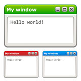 Computer windows Royalty Free Stock Photography