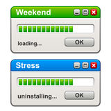 Computer windows weekend loading stress uninstalling Royalty Free Stock Photos