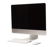 Computer with wireless keyboard and mouse Royalty Free Stock Image
