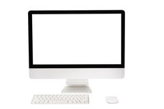 Computer with wireless keyboard and mouse Stock Photos