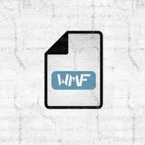 Computer wmf file icon. Creative design of computer wmf file icon Stock Photo