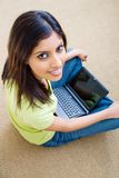 Computer woman Stock Image