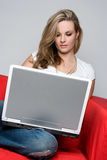 Computer Woman Stock Photography