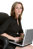 Computer Woman Royalty Free Stock Images