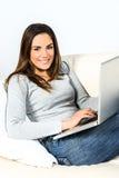 Computer woman Stock Image