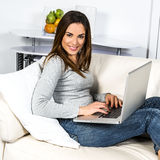 Computer woman Royalty Free Stock Photos