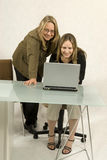 computer women Στοκ Εικόνα