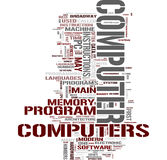 Computer word collage Stock Images