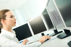 Computer Work Royalty Free Stock Photo