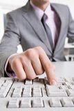 Computer work Stock Images