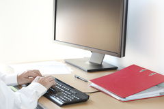 Computer work Stock Photos