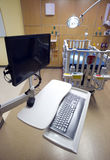 Computer Work Station in Childrens Hospital Medical Recovery Roo Stock Photography