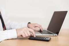 Computer work typing in office Stock Photos