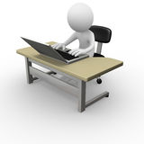 Computer worker Royalty Free Stock Photography