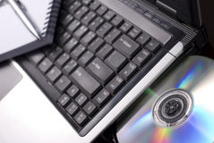 Computer Working. With a DVD drive Stock Image