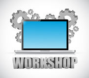 Computer workshop concept Royalty Free Stock Images