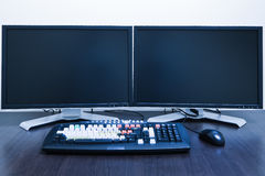 Computer workstation royalty free stock photos