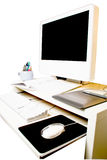 Computer workstation. With pen tablet Royalty Free Stock Image