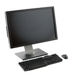 Computer workstation isolated Royalty Free Stock Photography