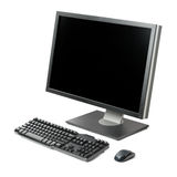 Computer workstation isolated Stock Image