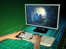 Computer world Stock Photo