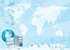 Computer world stock illustration