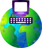 Computer world Stock Image