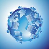 Computer world concept Royalty Free Stock Photography