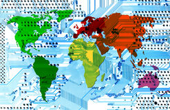 Computer world - connectivity Stock Image