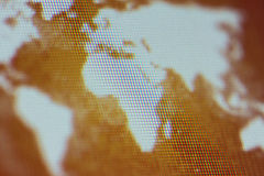 Computer World Map royalty free stock image