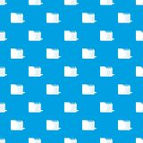 Computer worm pattern seamless blue. Computer worm pattern repeat seamless in blue color for any design. Vector geometric illustration Royalty Free Stock Photos