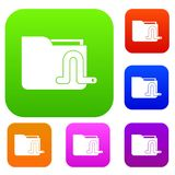 Computer worm set collection. Computer worm set icon in different colors isolated vector illustration. Premium collection Royalty Free Stock Image