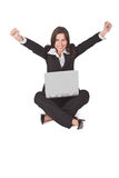 Computer-Zufriedenheit Lizenzfreie Stockfotografie