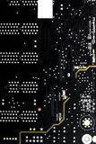 Computer zwarte motherboard stock foto