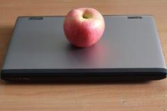 Computerand Apple Στοκ εικόνα με δικαίωμα ελεύθερης χρήσης