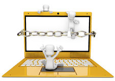 Computerangriff Lizenzfreies Stockbild