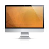 Computeranzeige mit modernem Vektorhintergrund stock abbildung