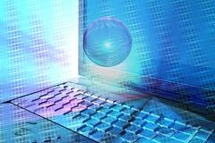 Computerauszug im Blau Lizenzfreies Stockbild