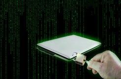 Computerbeveiliging, digitale achtergrond Stock Foto