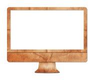 Computerbildschirmanzeige-Papierfertigkeit Stockfoto