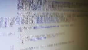 Computercode het Scrollen stock video