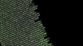 Computercodes die op het scherm lopen stock footage