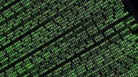 Computercodes die op het scherm lopen stock videobeelden