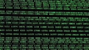 Computercodes die op vertoning lopen stock videobeelden