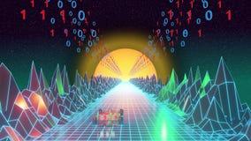 Computercpu digitale wereld vector illustratie