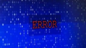 Computerdatenfehler stock abbildung