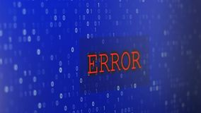 Computerdatenfehler stock video