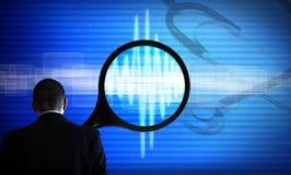 Computerdiagnosenwissenschaft und -medizin Stockbilder