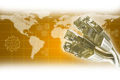 Computerdrähte Lizenzfreie Stockfotos