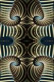 computererzeugte künstlerische Zusammenfassung 3d bunte curvy Fractal-Mustergrafik lizenzfreie abbildung